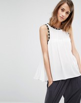 Warehouse Embroidered Detail Swing Top