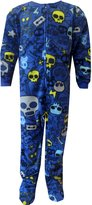 Komar Kids Skulls Onesie Footed Pajamas for Little Boys XS/4-5