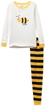Leveret Bumblebee Pajama Set (Baby, Toddler, Little Girls, & Big Girls)