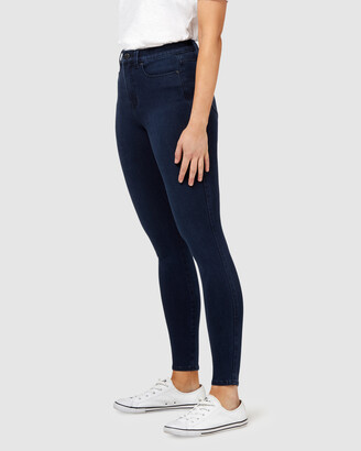 Jeanswest Women's Blue Skinny - Freeform 360 Contour Skinny 7-8 Jeans Midnight - Size One Size, 12 Regular at The Iconic