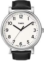 Timex Originals Men's T2N338 Quartz Watch with White Dial Analogue Display and Black Leather Strap