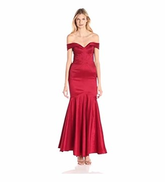 Xscape Evenings Women's Off The Shoulder Long Taffeta Dress