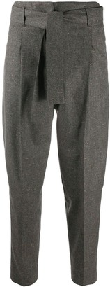Peserico High-Waisted Tapered Trousers