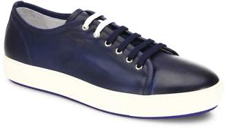 Saks Fifth Avenue Dual Lace Up Leather Sneakers