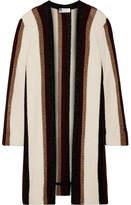 Lanvin Striped Metallic Knitted Cardigan - White