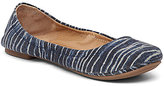 Lucky Brand Emmie Dark Denim Fabric Slip-On Round Toe Ballet Flats