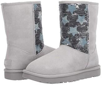 UGG Classic Short Sequin Stars (Grey Violet) Women's Boots