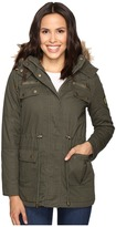 Brigitte Bailey Primero Long Jacket w/ Detachable Faux Fur