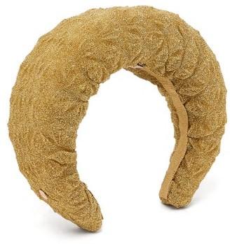 Flapper Edvige Lame-mesh Headband - Gold