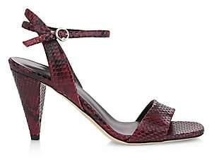 Via Spiga Women's Ria Snake-Embossed Sandals