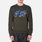 Kenzo Embroidered Logo Sweater Dark Khaki