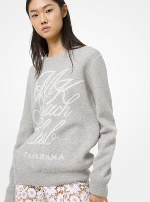 Michael Kors Cotton and Cashmere Beach Club Sweatshirt