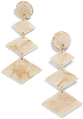 BaubleBar Shanti Resin Drop Earrings, Off-White