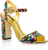 Dolce & Gabbana Sequined Leather Sandals