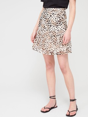 Very Woven Printed Skirt - Leopard
