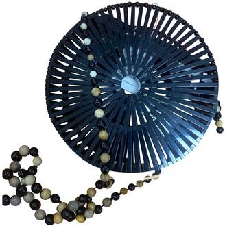 Cult Gaia Luna Crossbody Black Plastic Handbags