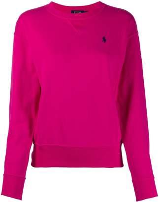 Polo Ralph Lauren oversized logo-embroidery sweatshirt