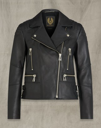 Belstaff DEVYN LEATHER JACKET Black UK 4 /