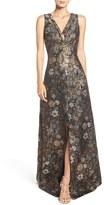 Aidan Mattox Women's Metallic Jacquard Gown