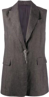 Brunello Cucinelli Bead-Detail Sleeveless Jacket