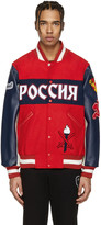 Opening Ceremony Red Russia Global Varsity Jacket