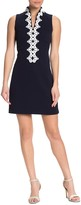 Vince Camuto Contrast Embroidered Sleeveless Dress