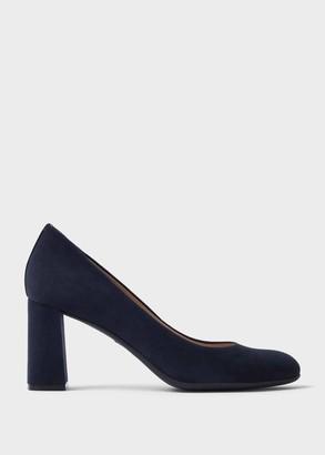 Hobbs Sonia Suede Block Heel Court Shoes