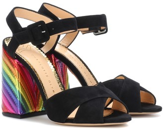 Charlotte Olympia Emma suede sandals