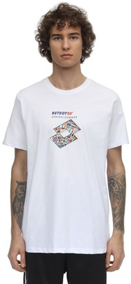 But Not Lotto Flags Printed Cotton T-Shirt