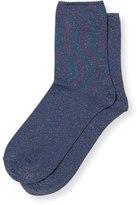 Oliver Bonas All Over Shimmer Socks