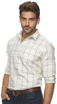 Marc Anthony Men's Slim-Fit Plaid Flannel Button-Down Shirt