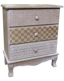 Bungalow Rose Jost Wooden 3 Drawer Accent Chest
