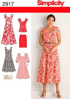 Simplicity Sewing Pattern 2917 Miss/Plus Size Dresses
