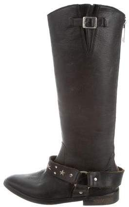 Golden Goose Distressed Leather Knee-High Boots