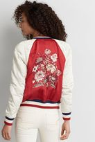 American Eagle Outfitters AE Embroidered Raglan Bomber Jacket