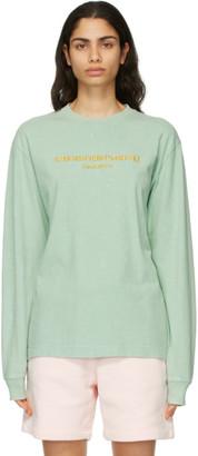 Alexander Wang Green Acid Logo Long Sleeve T-Shirt