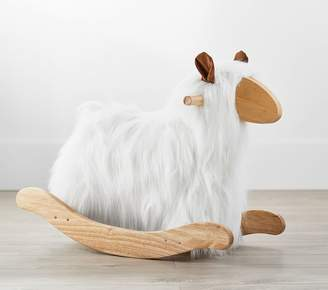 Pottery Barn Kids Mongolian Fur Lamb Rocker, Black