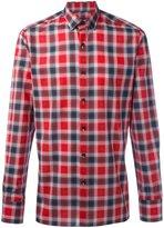 Lanvin checked flannel shirt - men - Cotton - 38