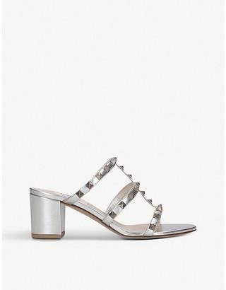 Valentino Rockstud 60 leather heeled mules