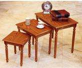 Frenchi Home Furnishing Oak Nesting Table (3-Piece)