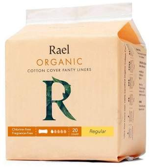 Rael Organic Cotton Regular Pantyliners - Unscented - 20ct