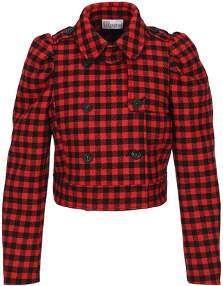 RED Valentino Plaid Cropped Jacket