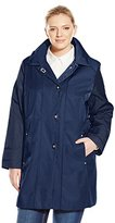 Anne Klein Women's Plus-Size Turn Key Raincoat Plus