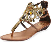 Premium Collection By Yellow Box Araminta Embellished Caged Flat Sandal