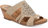 Sofft Vassy Beaded Slip-On Wedge Sandals