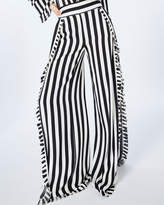 Nicole Miller Getaway Stripe Ruffle Pants