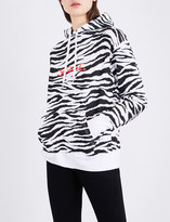 Joyrich Zebra-print cotton-jersey hoody