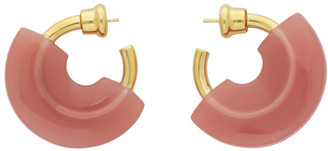 Panconesi Pink Mini Resin Hoop Earrings