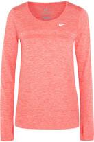 Nike Dri-fit Knit Stretch-jersey Top - Papaya