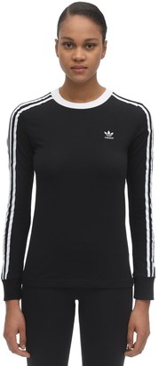 adidas Stretch Cotton Long Sleeve T-Shirt